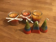 Candles from recycled candle wax
